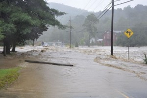 Waitsfield during Irene. Photo Credit David Silverberg (CC)